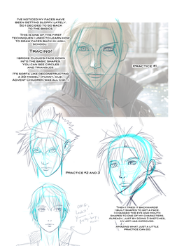 How I Improve Drawing Faces by RoxyRoo