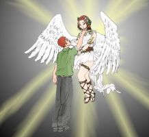 My angel and me by Jomir