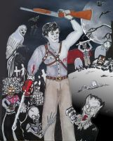 Bruce Campbell Vs. The Army of Darkness Halloween by JokerHarley2345