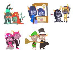 Homestuck Keychains and Stickers 2 by breezelessvanity