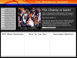 BroncosInsider.com Interface by cotrackguy