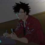 Senior!College Kuroo: Midterms by Nals-luff