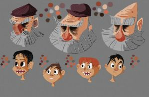 Character concept: Faces by caiobuca