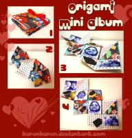 Origami Mini Album by KarenKaren