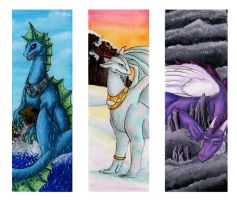 Gemstone Dragon Bookmark Set 2 by hollyann