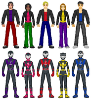 Mighty Morphin Dark Rangers by exguardian