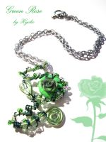 Green Rose Pendant by Hyo-pon