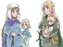 APH: Celtic Ancestors+Children by fir3h34rt