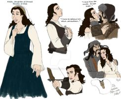 The Hobbit : OC : Kelda Sketches by TheLastUnicorn1985
