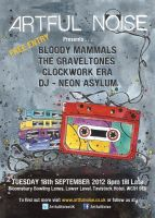 Artful Noise Flyer by DeftLeftHand
