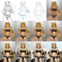 Leone (Akame ga Kill!) - Process by DigiFlohw