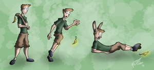Commission - Le Foot of Rabbits 1 by Fox-Fireborn