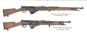 French MAS Model 1917 and 1918 by stopsigndrawer81