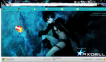 Black Rock Shooter Google Chrome Theme 1024x600 by Axdell