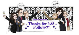 Sherlock BBC Celebration - 500 Followers on Tumblr by RedPassion