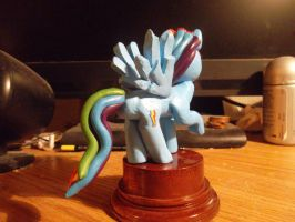 Rainbow Dash statuette finished 2. by McMesser