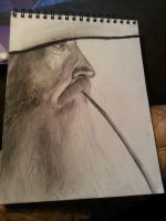 Gandalf Deep in Thought by Nibort