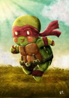 The Turtle in Red by rizaturker