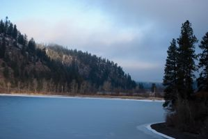 Ice Lake by AngelaLeonetti