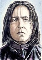 Alan Rickman mini-portrait by whu-wei