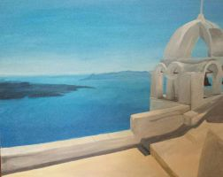 Santorini - Painted with acryl by sophicardia