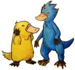 Psyduck and Golduck by Mbecks14