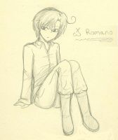 Romano: sketch by Hero-of-Awesome