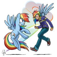 Human Ponidox Rainbow Dash by GlancoJusticar