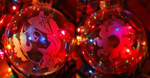 Celestia Glass Ornament by Clinkorz