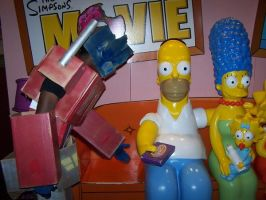 Boxtimus Prime and the Simpson by Wacka14