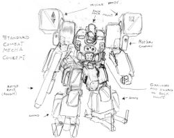 Standard Combat Mech Concept by CamCo