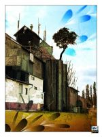 Bulding with a tree by eyefish