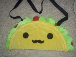 Cute Taco Purse with Mustache! by SuperRainbowOctopus