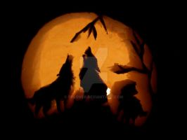 Pumpkin Wolves by OPlover