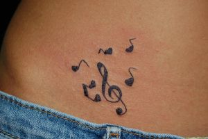 "Her First Tattoo.. ""Clef"" by WikkedOne"