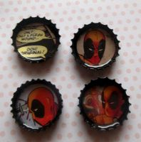 deadpool magnets by Drunk-Kittens