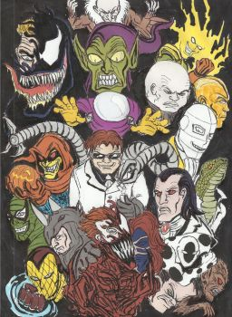 MY TOP 20 SPIDER-MAN FOES by devilkais