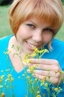 with yellow flowers by LudmilaVyatkina