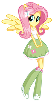 Equestria Girl (Fluttershy) (No Cutie Mark) by litingphires