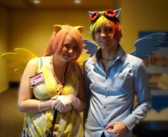 Fluttershy and Rainbow Dash Cosplay by OneLifeRemaining