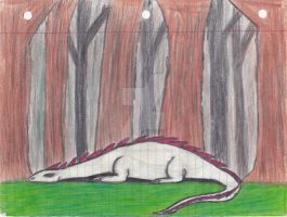 Old Art from 6th grade (year 1990) (Dragon1) by Gneiss-chert