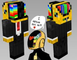 Approved Daft Punk Minecraft by IntrovArt