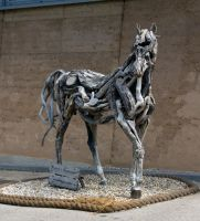 Sculpture at Eden Project by Heather Jansch view 2 by Steve-FraserUK