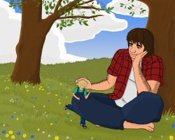 Art Trade: Bruce and Alice by Kindii
