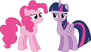 Twilight And Pinkie Pie by illumnious