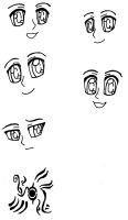 Eyes and expressions by CTPikk1223