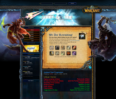 WoW Guild Template by JDareDesign