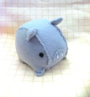 Grey Tea Cup Piggy Plush by PinkChocolate14