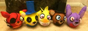 FNAF Plush squad by Skoryx