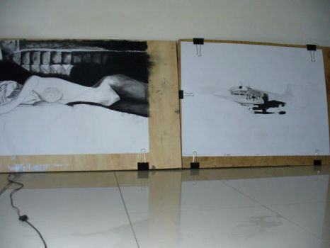 Two Projects in Progess by Sahar01